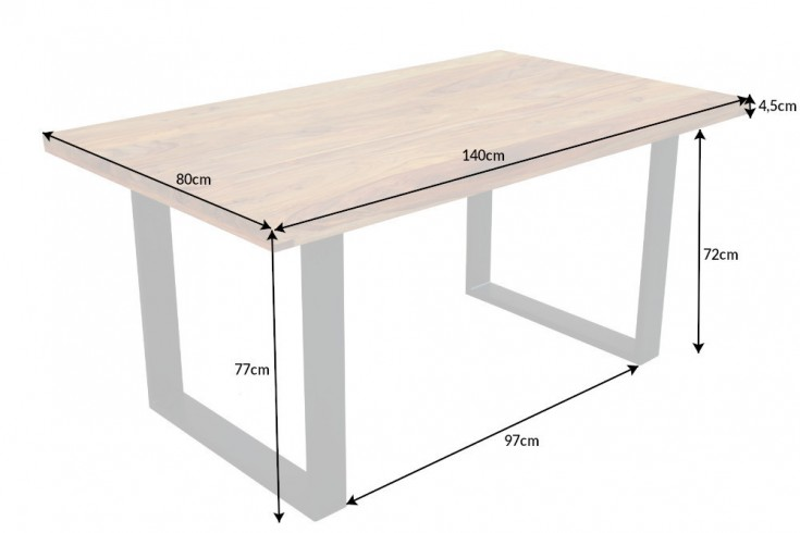 Designový jídelní stůl Thunder 140 cm sheesham