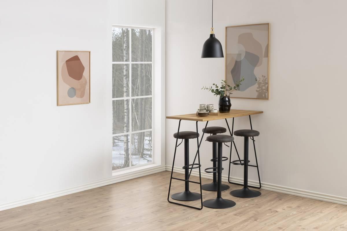 Moderní barová židle Nenna černá-antracitová