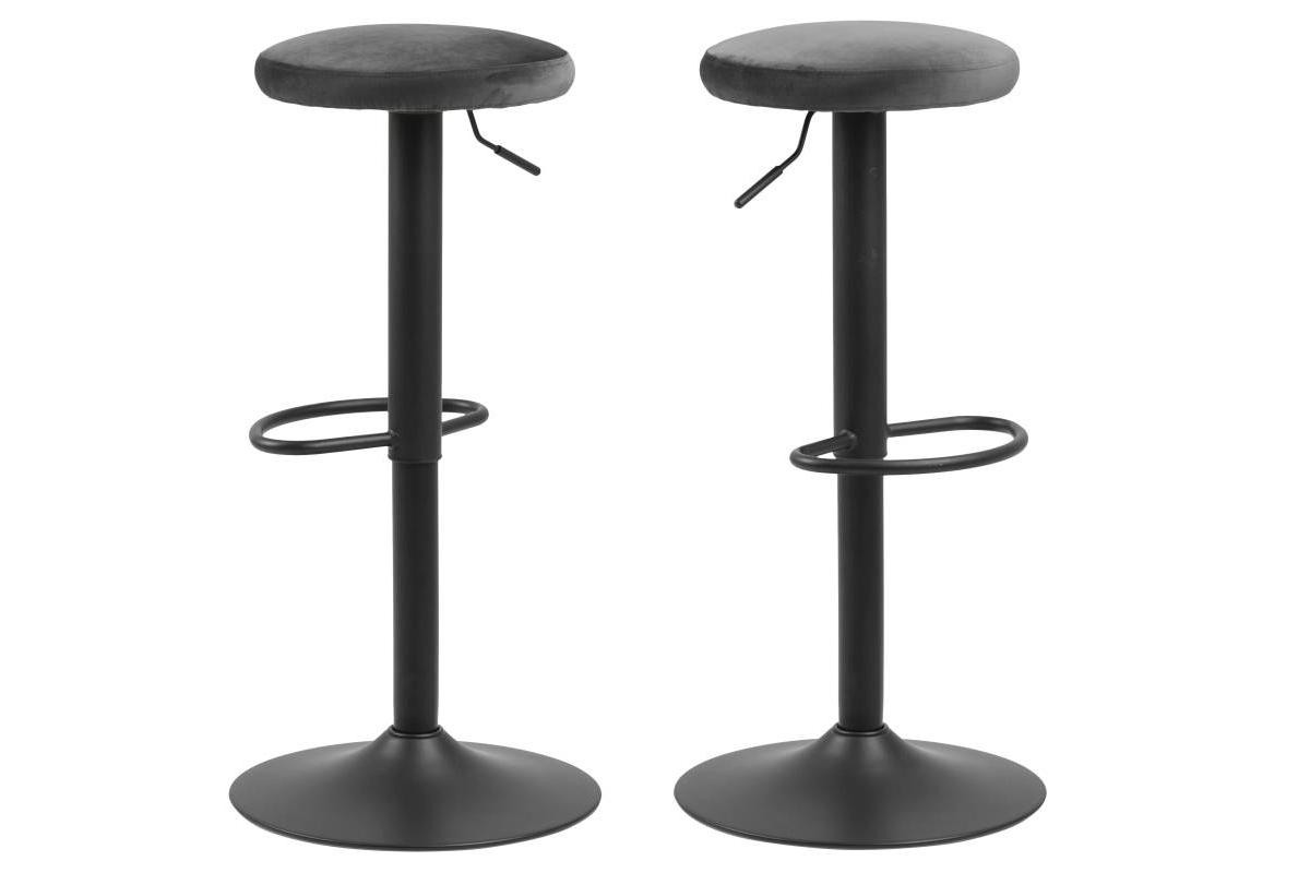 Moderní barová židle Nenna černá-tmavě šedá