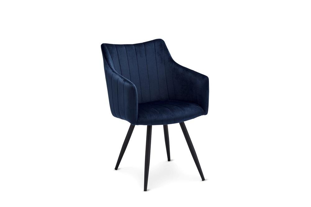 Moderní jídelní židle Aelfric, modrá
