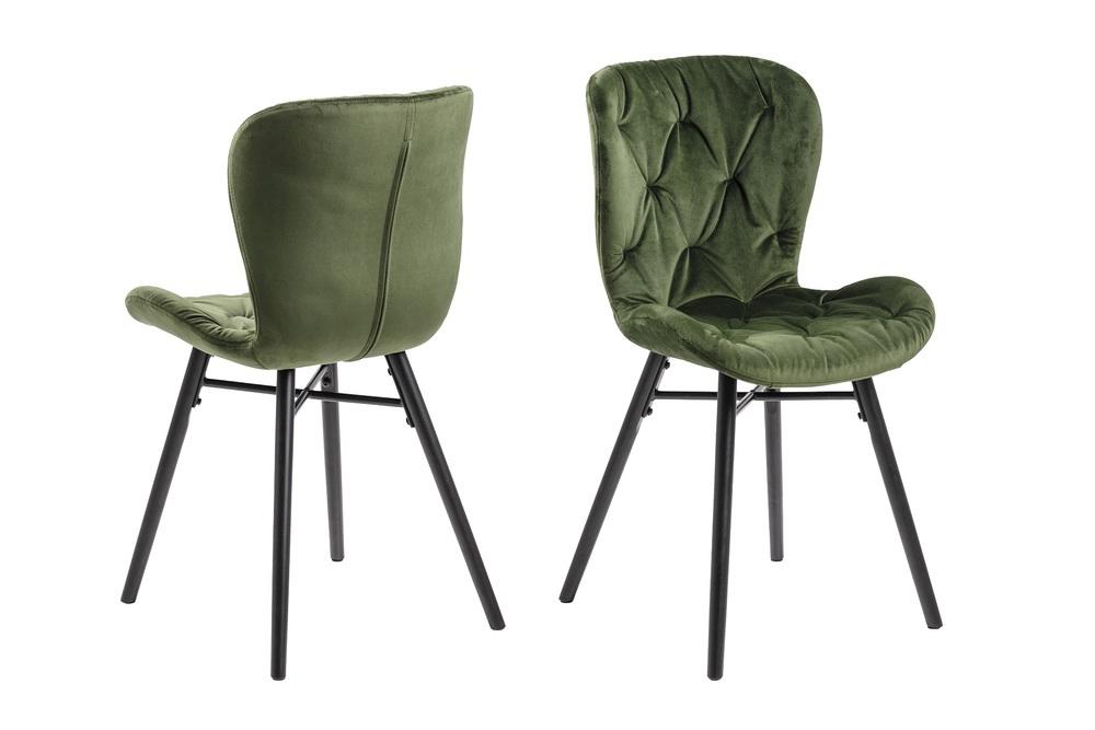Moderní jídelní židle Alejo lesnická zelená