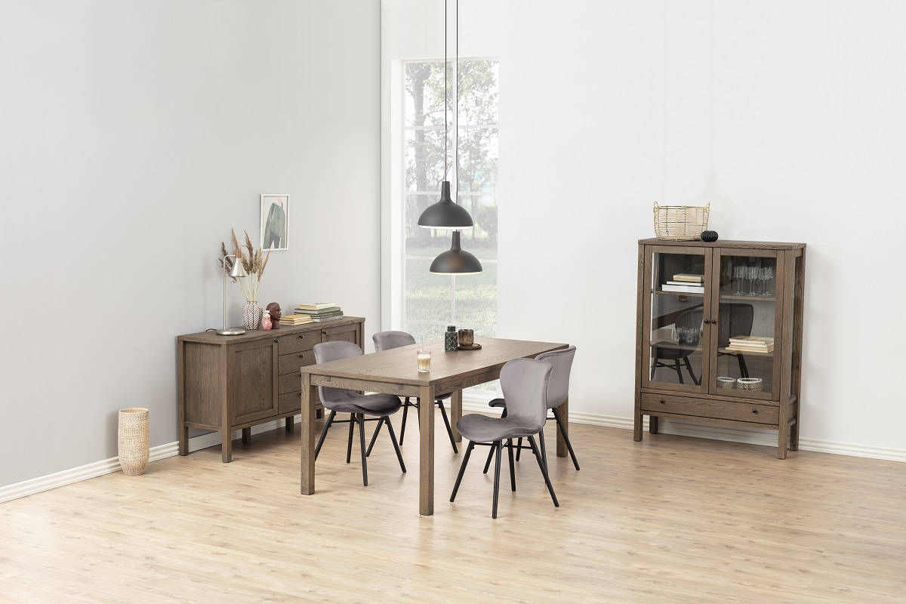 Moderní jídelní židle Alejo tmavě šedá