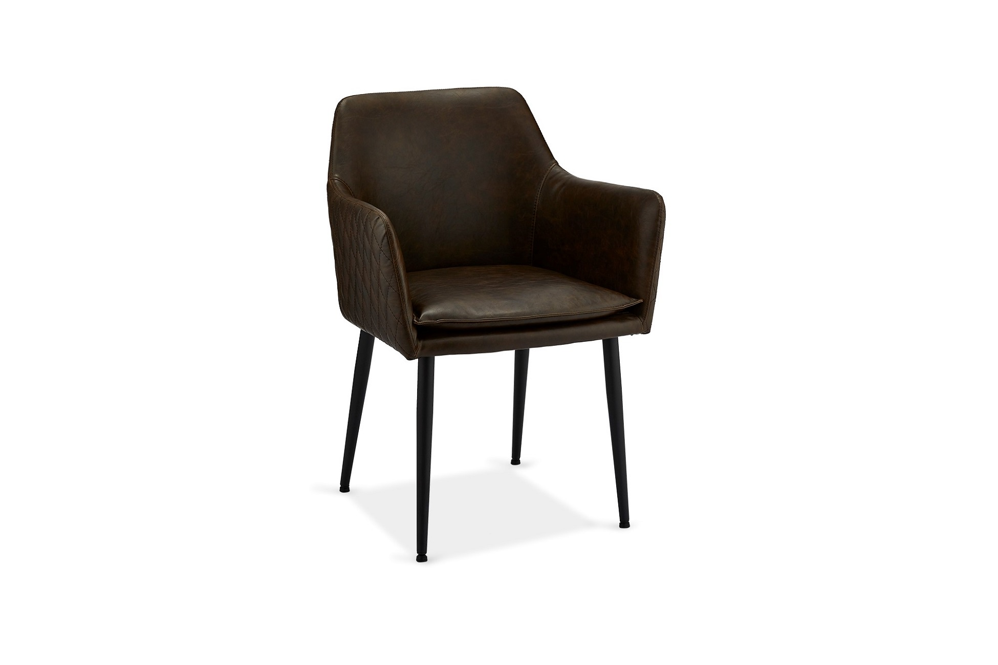 Moderní židle Abaddon, tmavohnědá