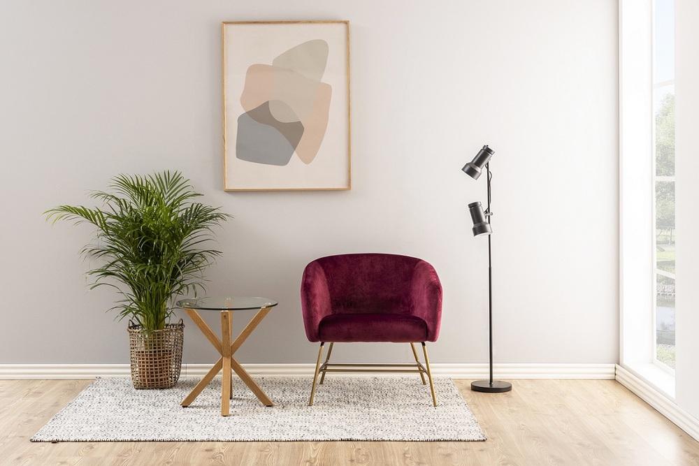 Moderní odkládací stolek Ajamu imitace dubové dřevo - otevřené balení