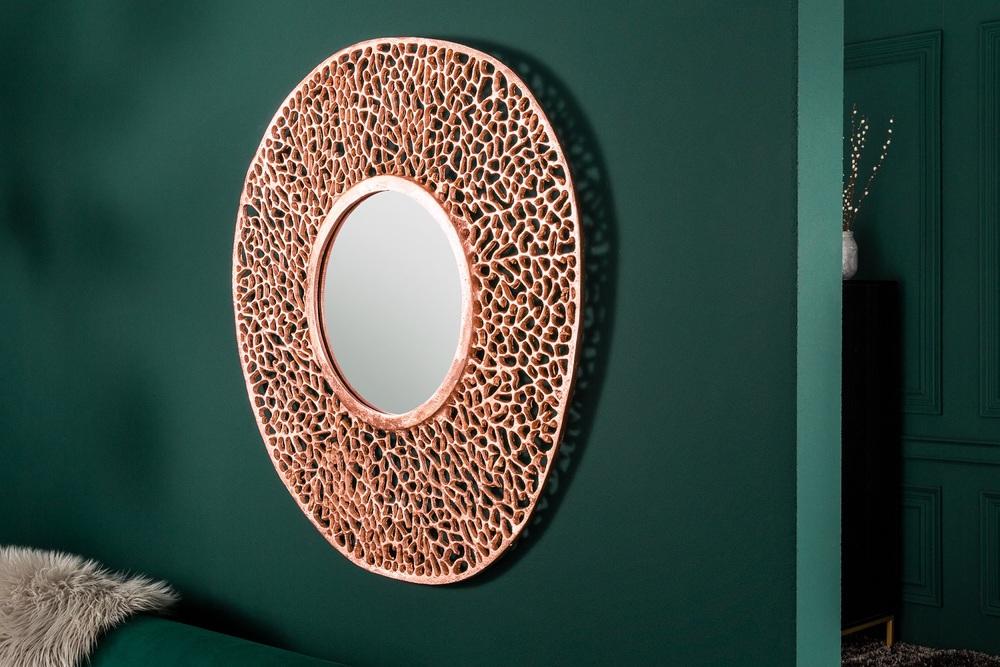 Nástěnné zrcadlo Lance S 76 cm měděné