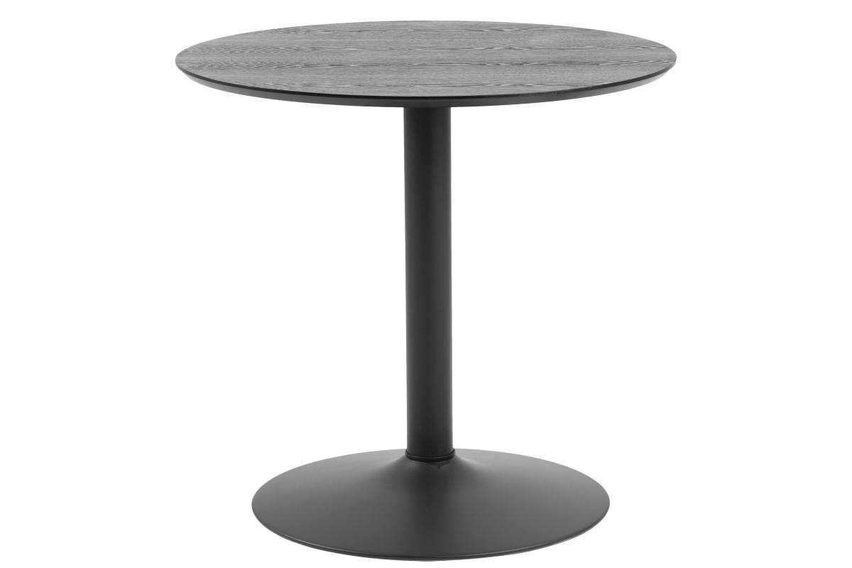 Kulatý barový stůl Neesha 80 cm černý