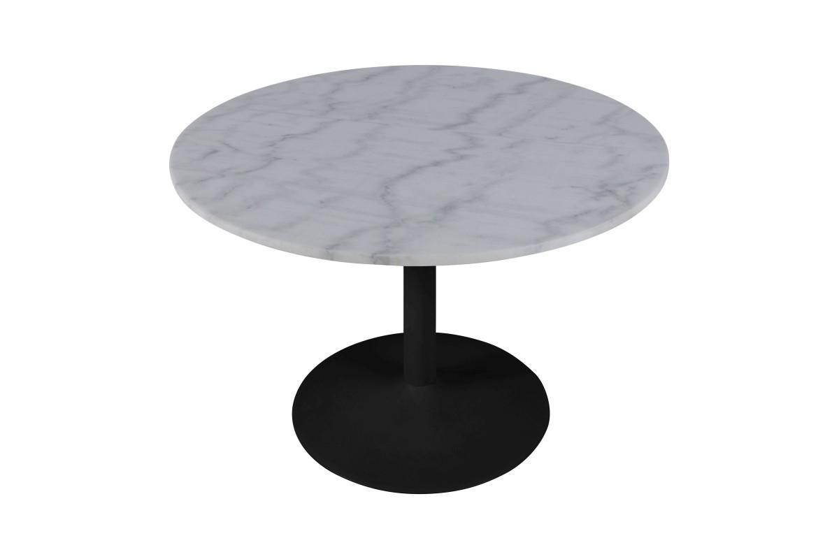 Kulatý jídelní stůl Night 110 cm Guangxi bílý mramor