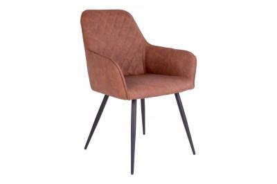 Designová jídelní židle Gracelyn, vintage hnědá