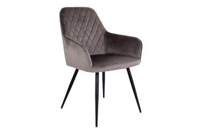 Designová jídelní židle Gracelyn, šedohnědý samet