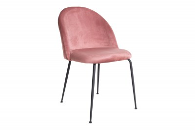 Designová stolička Ernesto, růžová / černá