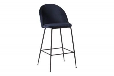 Designová barová židle Kristopher, modrá / černá