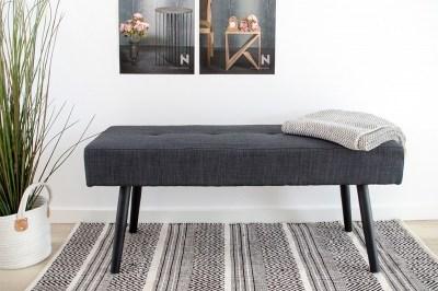 Designová lavice Elaina, tmavě šedá