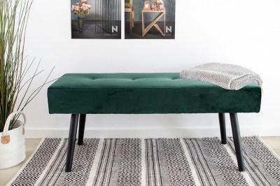 Designová lavice Elaina zelený samet