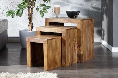 Luxusní set 3 stolků Santana