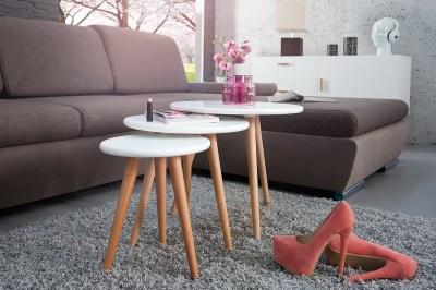 Dizajnový set 3 odkládacích stolků Sweden