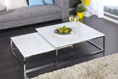 Bílý konferenční stolek 2-set Fiesta I