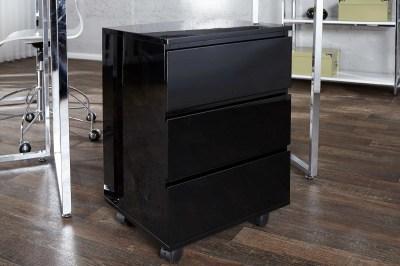 Dizajnová Zásuvková skříňka  pro pracovný stůl Boss černý