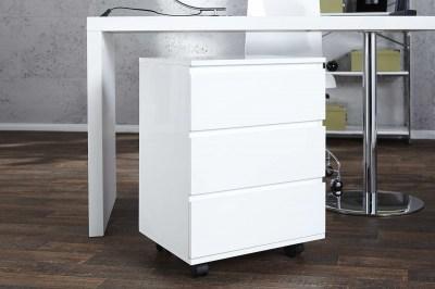 Dizajnová zásuvková skříňka Boss bílá pre pracovní stůl