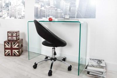 Dizajnový skleněný kancelářský stůl Phantom
