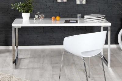 Dizajnový psací stůl Office IV bílý ve vysokém lesku