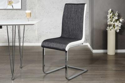 Moderní jídelní židle City Antracit bílá