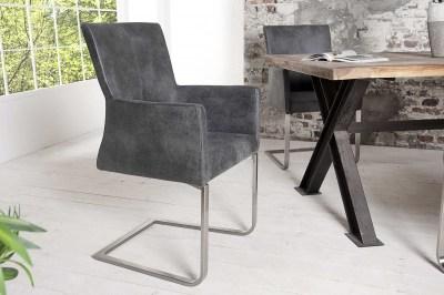 Luxusní jídelní židle Bull Vintage šedá
