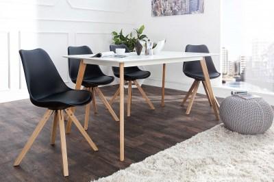 Dizajnová jídelná židle Sweden NewLook černá
