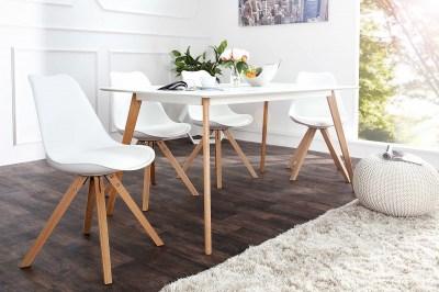 Dizajnová jídelná židle Sweden NewLook bílá