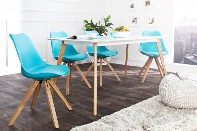 Dizajnová jídelná židle Sweden NewLook tyrkysová