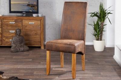 Luxusní jídelná židle Clemente Vintage Look světle hnědá