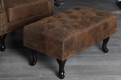 Luxusní taburetka Chesterfield vintage
