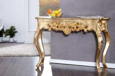 Luxusní konzola - toaletní stolek Veneto zlatá