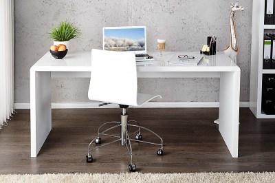 Kancelářský stůl Barter 120cm bílý vysoký lesk