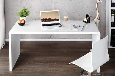 Kancelářský stůl Barter 140cm bílý vysoký lesk