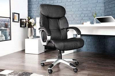 Luxusní kancelářská židle Powerful do 150kg černá