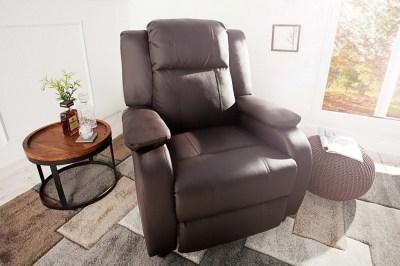 Luxusní relaxační křeslo Movie hnědé