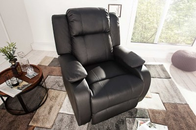 Luxusní relaxační křeslo Movie černé