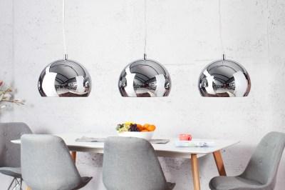 Designová závěsná troj lampa Club chromová