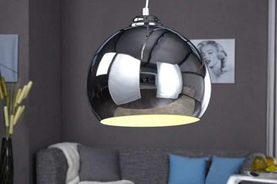 Designová závěsná lampa Club chromová