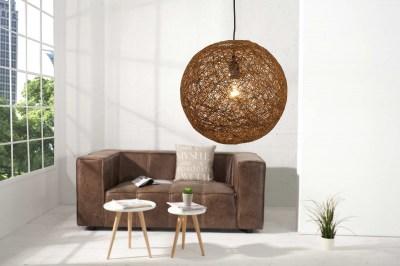 Designová závěsná lampa Wrap hnědá 45cm