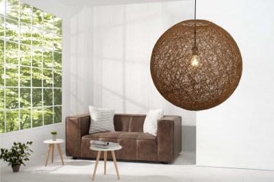 Dizajnová závesná lampa Wrap hnedá 60cm