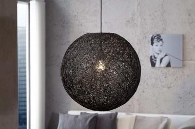 Designová závěsná lampa Wrap černá 45cm
