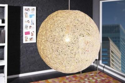 Designová závěsná lampa Wrap bílá 45cm