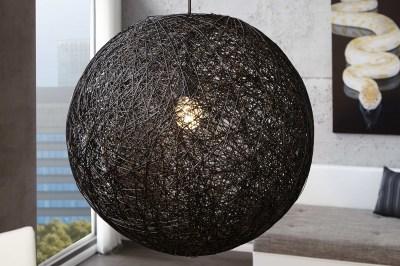 Designová závěsná lampa Wrap černá 60cm