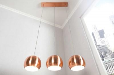 Designová troj lampa Fuzz měděná