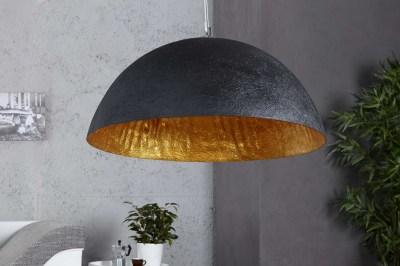 Designová lampa Glimer 50cm černo-zlatá