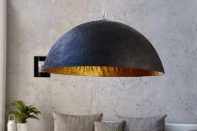 Designová lampa Glimer 70cm černo-zlatá