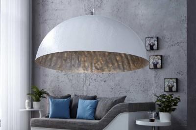 Designová lampa Glimer 70cm bílo-stříbrná