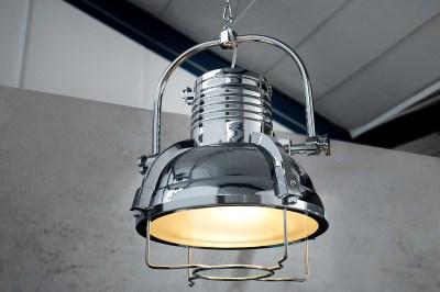 Designová závěsná lampa Commercial II 35 cm chromová