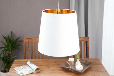 Designová lampa Azure XL bílo-zlatá